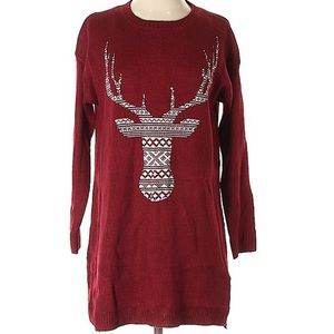 ModCloth Staccato Deer Sweater size small